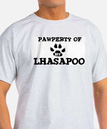 Pawperty: Lhasapoo Ash Grey T-Shirt