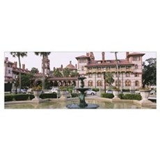 Fountain in front of a building, Lightner Museum,  Poster