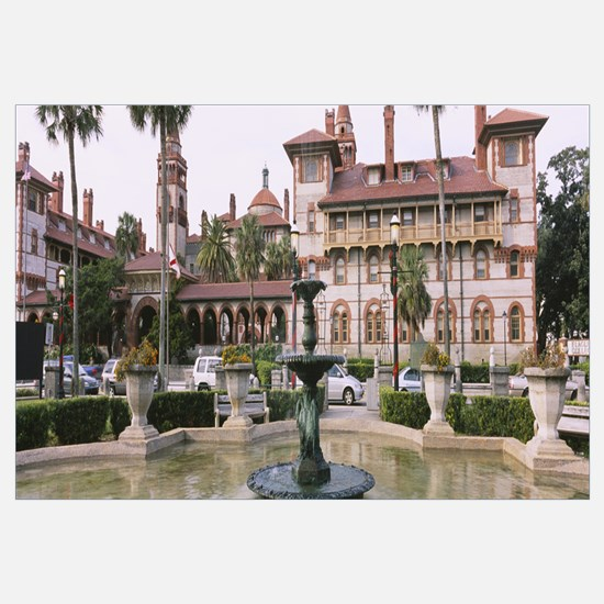 Fountain in front of a building, Lightner Museum,