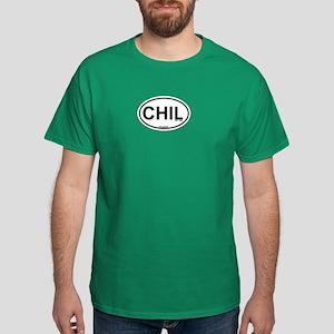 Chilmark MA - Oval Design. Dark T-Shirt