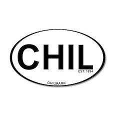 Chilmark MA - Oval Design. 22x14 Oval Wall Peel
