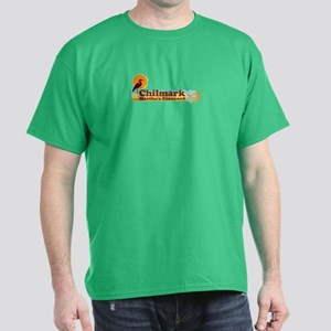 "Chilmark MA ""Beach"" Design. Dark T-Shirt"