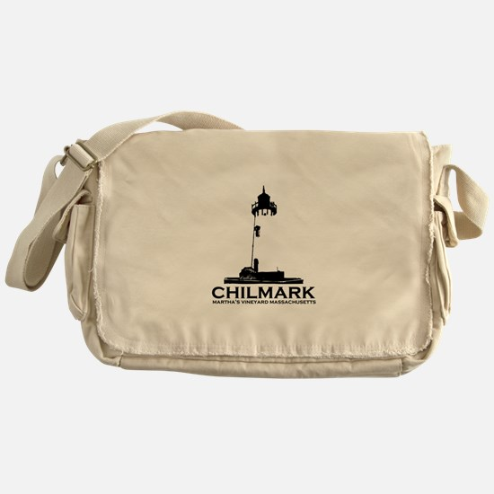 "Chilmark MA ""Lighthouse"" Design. Messenger Bag"