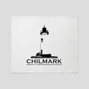 "Chilmark MA ""Lighthouse"" Design. Throw Blanket"