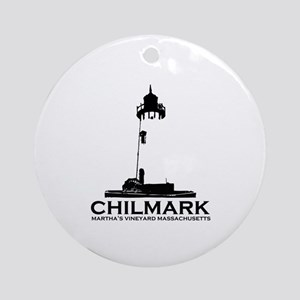 "Chilmark MA ""Lighthouse"" Design. Ornament (Round)"