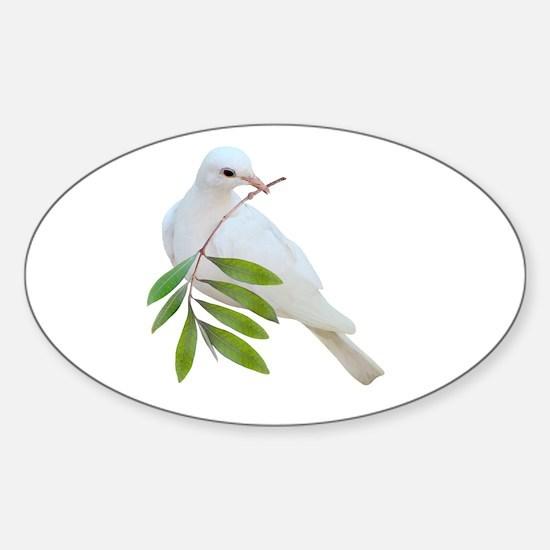 Dove Olive Branch Sticker (Oval)
