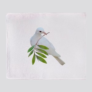 Dove Olive Branch Throw Blanket