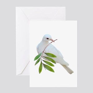 Dove Olive Branch Greeting Card