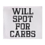 Will spot for Carbs Throw Blanket
