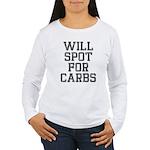 Will spot for Carbs Women's Long Sleeve T-Shirt