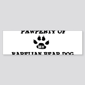 Pawperty: Karelian Bear Dog Bumper Sticker