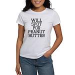 Will spot for peanut butter Women's T-Shirt