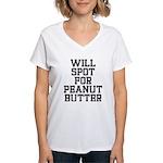 Will spot for peanut butter Women's V-Neck T-Shirt