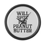 Will spot for peanut butter Large Wall Clock