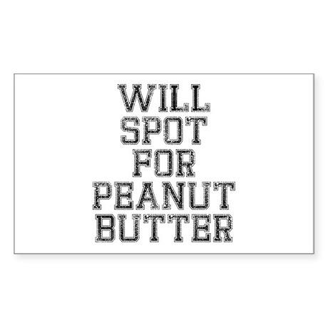 Will spot for peanut butter Sticker (Rectangle)