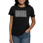 White Polka Dots Women's Dark T-Shirt