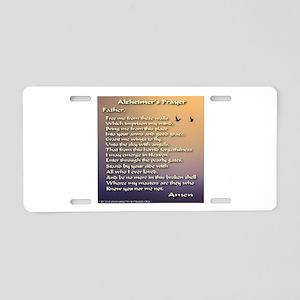 Alzheimer's Prayer Aluminum License Plate