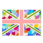 Heart filled Union Jack Flag Postcards (Package of