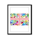 Heart filled Union Jack Flag Framed Panel Print
