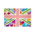 Heart filled Union Jack Flag Rectangle Magnet (100