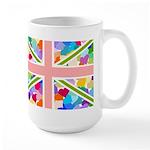 Heart filled Union Jack Flag Large Mug