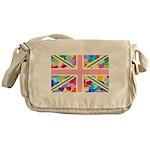 Heart filled Union Jack Flag Messenger Bag