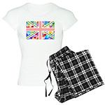 Heart filled Union Jack Flag Women's Light Pajamas