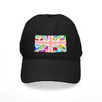 Heart filled Union Jack Flag Black Cap