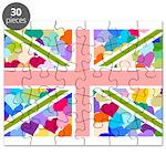 Heart filled Union Jack Flag Puzzle