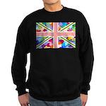 Heart filled Union Jack Flag Sweatshirt (dark)