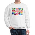 Heart filled Union Jack Flag Sweatshirt