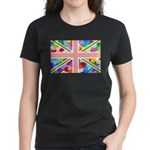 Heart filled Union Jack Flag Women's Dark T-Shirt
