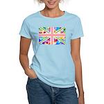 Heart filled Union Jack Flag Women's Light T-Shirt