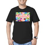 Heart filled Union Jack Flag Men's Fitted T-Shirt
