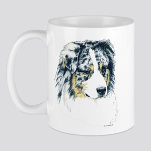 Australian Shepherd Merle Head Mug