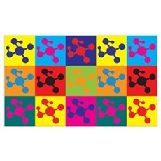Polymer Chemistry Pop Art Wall Art Poster