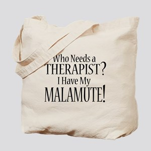THERAPIST Malamute Tote Bag