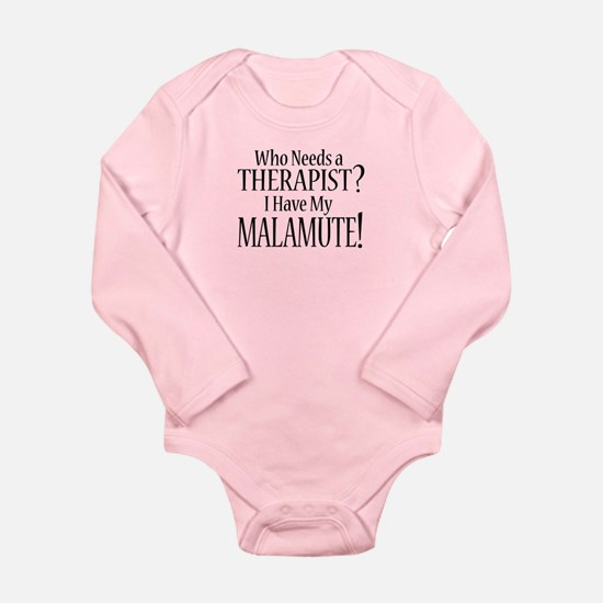 THERAPIST Malamute Long Sleeve Infant Bodysuit