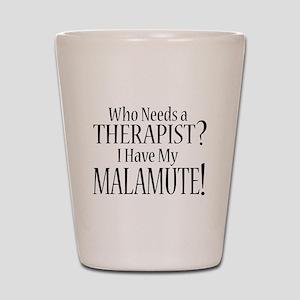 THERAPIST Malamute Shot Glass