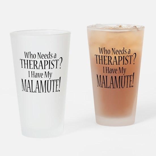 THERAPIST Malamute Drinking Glass
