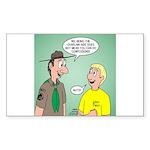 Chaplain's Aide Question Sticker (Rectangle 50 pk)