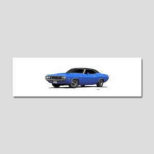 1970 Challenger Light Blue Car Magnet 10 x 3