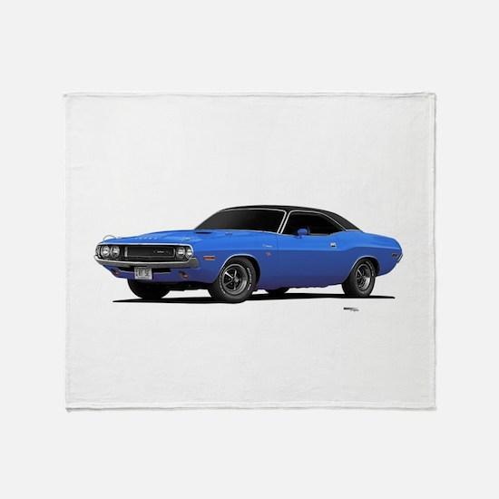 1970 Challenger Light Blue Throw Blanket