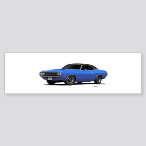 1970 Challenger Light Blue Sticker (Bumper)