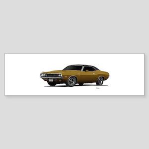 1970 Challenger Light Gold Sticker (Bumper)