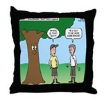Staff Hunt Camp Games Throw Pillow