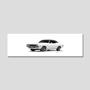 1970 Challenger White Car Magnet 10 x 3
