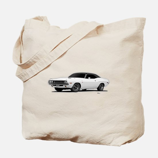1970 Challenger White Tote Bag
