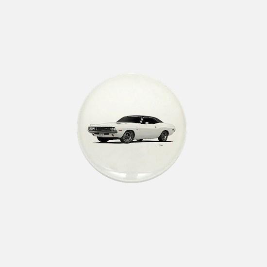 1970 Challenger White Mini Button