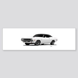 1970 Challenger White Sticker (Bumper)